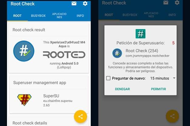 Root Check la mejor app para saber si el teléfono esta rooteado