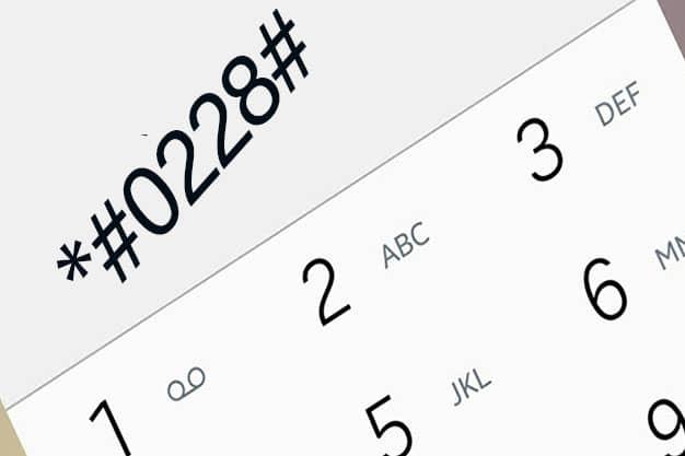 Código para calibrar la batería del celular